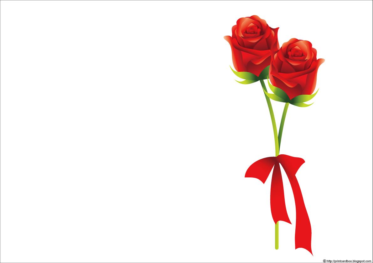 カードboxデザイン203バラ花束2本カード