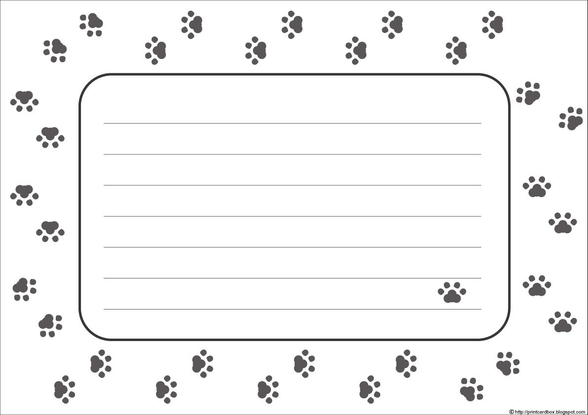 カードboxデザイン52足跡肉球カード