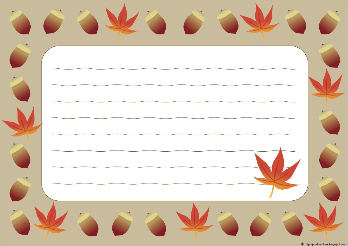 カードboxデザイン87秋どんぐり紅葉枠カード